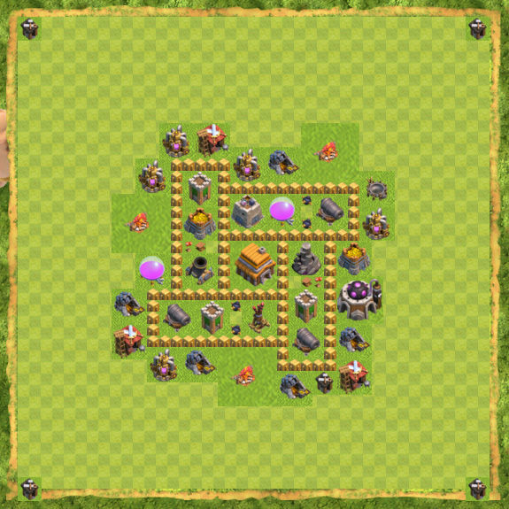 Base Defense Coc Th 5 21