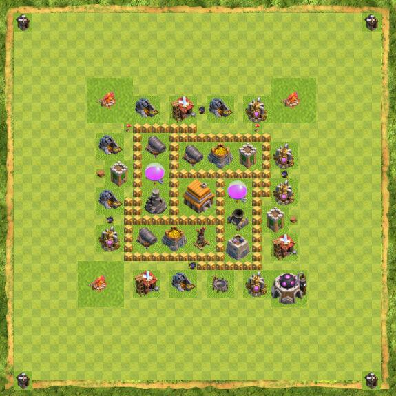 Base Defense Coc Th 5 28