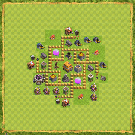 Base Defense Coc Th 5 3