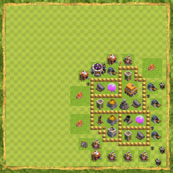Base Defense Coc Th 5 36