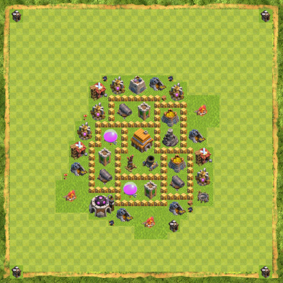 Base Defense Coc Th 5 4
