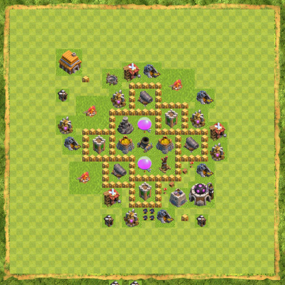 Base Farming Coc Th 5 10