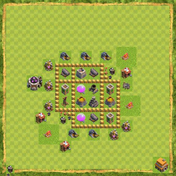 Base Farming Coc Th 5 11