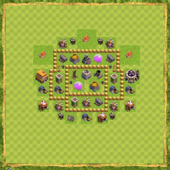Base Farming Coc Th 5 14