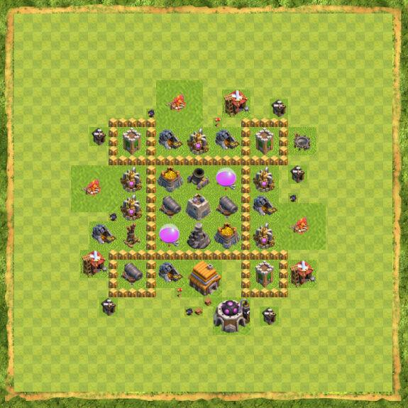 Base Farming Coc Th 5 16
