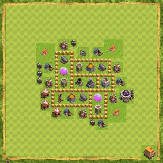 Base Farming Coc Th 5 17
