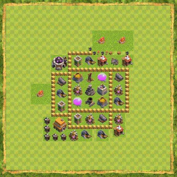 Base Farming Coc Th 5 18