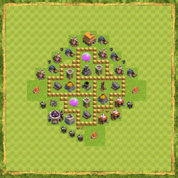 Base Farming Coc Th 5 19