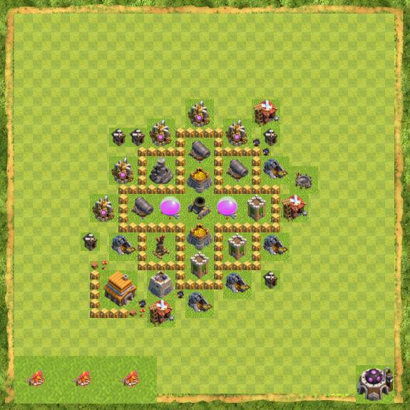 Base Farming Coc Th 5 20