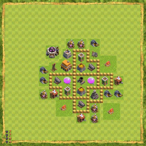 Base Farming Coc Th 5 25