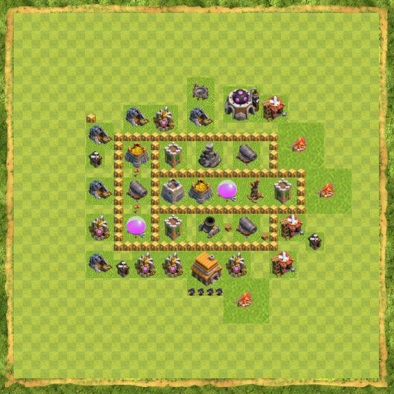 Base Farming Coc Th 5 26