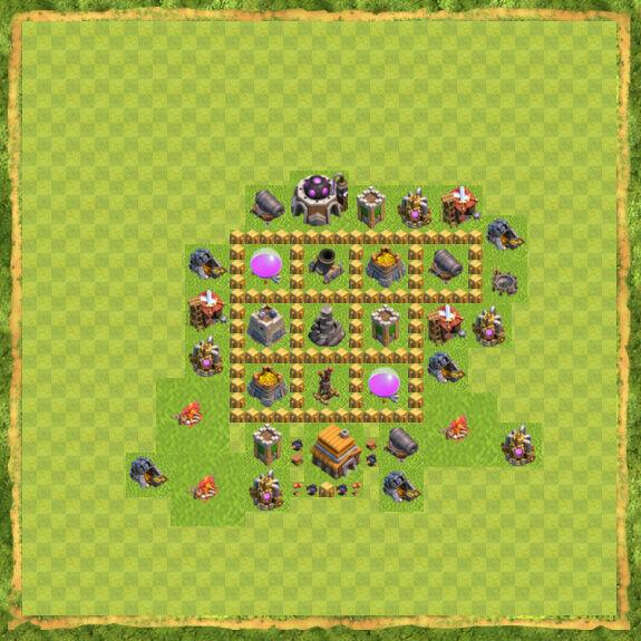 Base Farming Coc Th 5 28