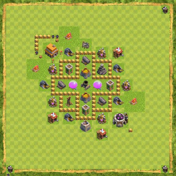 Base Farming Coc Th 5 30