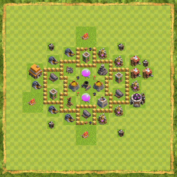 Base Farming Coc Th 5 33