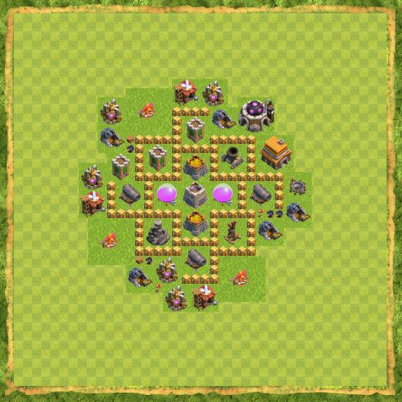 Base Farming Coc Th 5 4