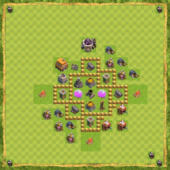 Base Farming Coc Th 5 5
