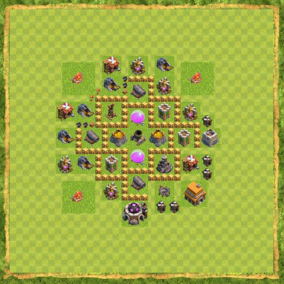Base Farming Coc Th 5 6