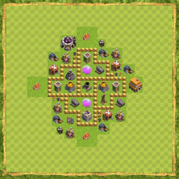 Base Farming Coc Th 5 8
