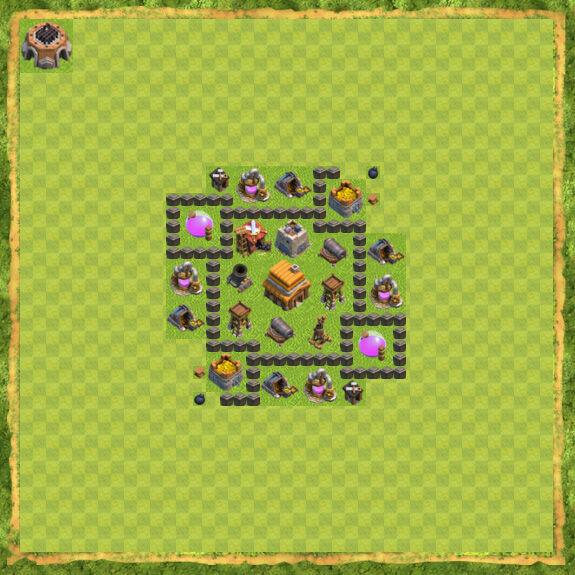 Base War Coc Th 4 10