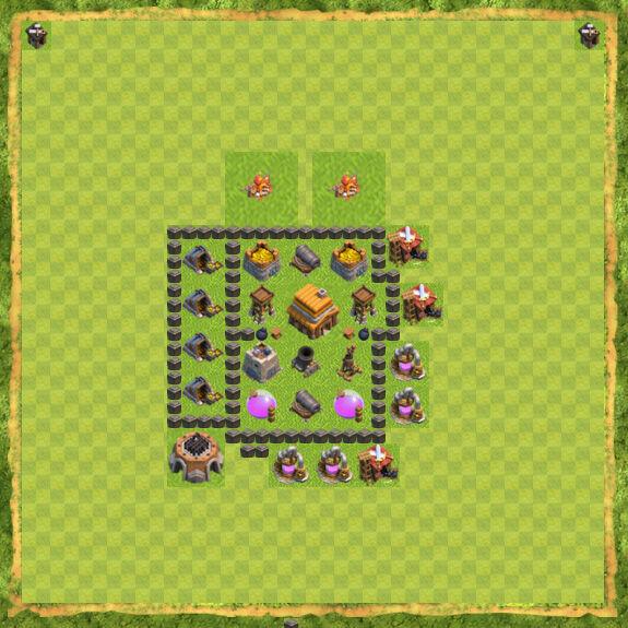 Base War Coc Th 4 12