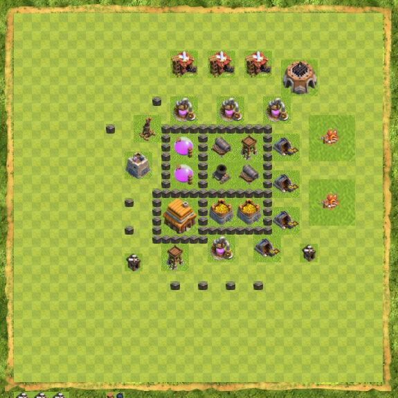 Base War Coc Th 4 16