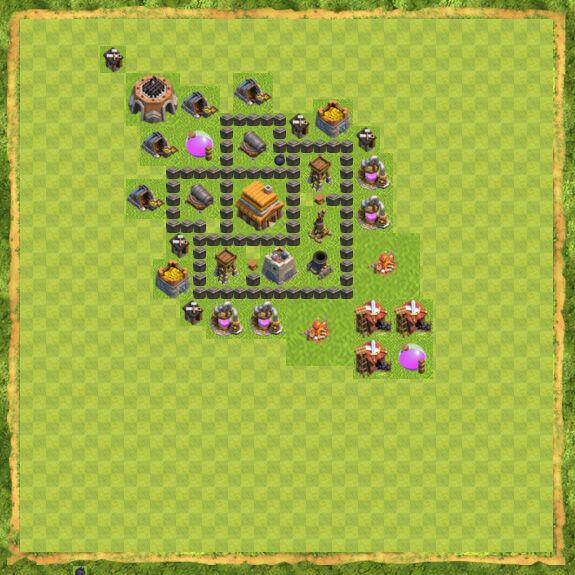 Base War Coc Th 4 17