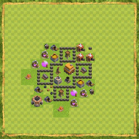 Base War Coc Th 4 19