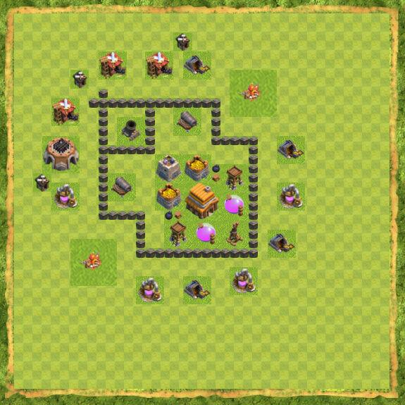 Base War Coc Th 4 20