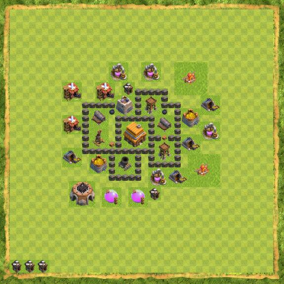 Base War Coc Th 4 21