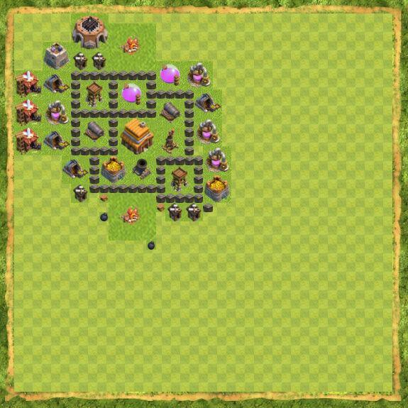 Base War Coc Th 4 23