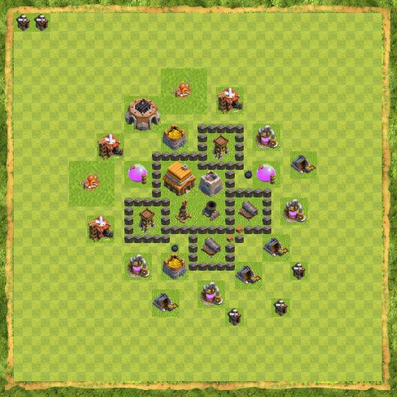 Base War Coc Th 4 24