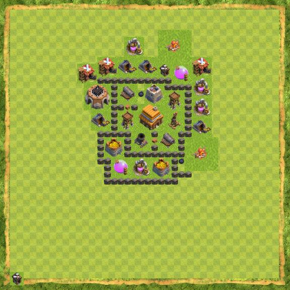 Base War Coc Th 4 28