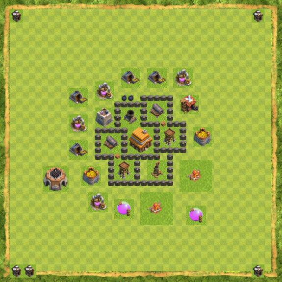 Base War Coc Th 4 29