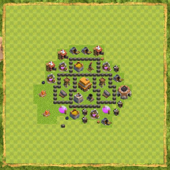 Base War Coc Th 4 3
