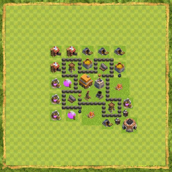 Base War Coc Th 4 33