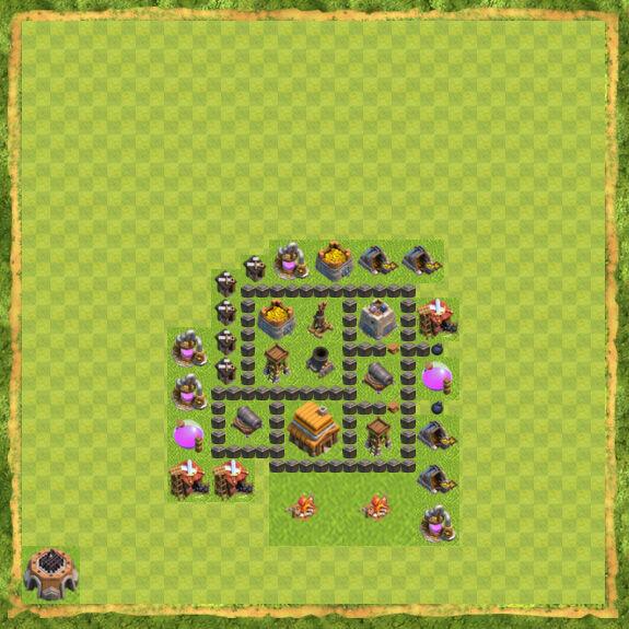 Base War Coc Th 4 35