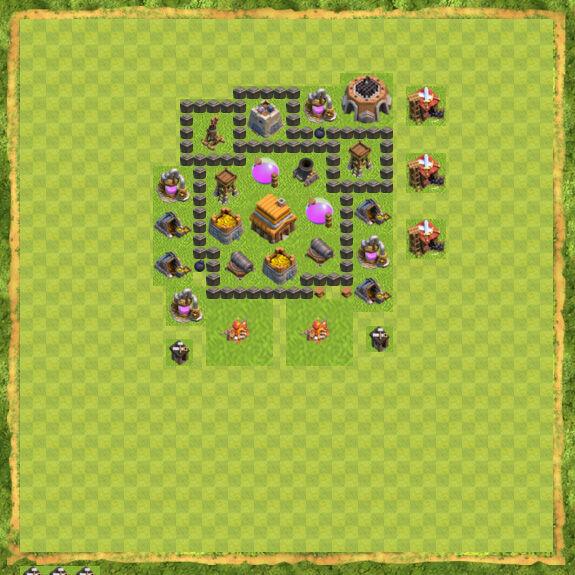 Base War Coc Th 4 36