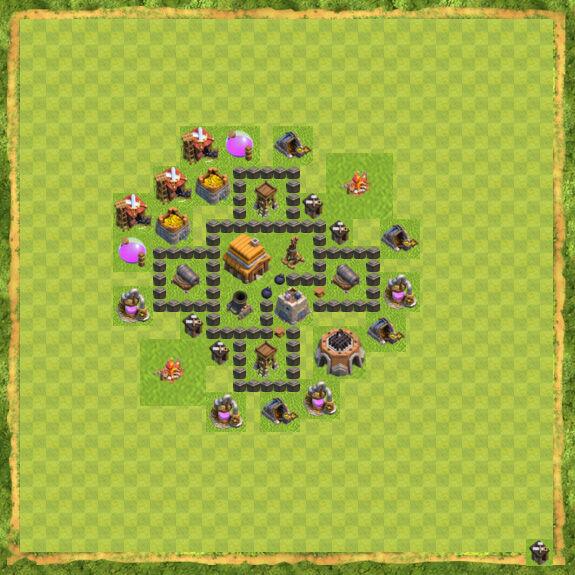 Base War Coc Th 4 4