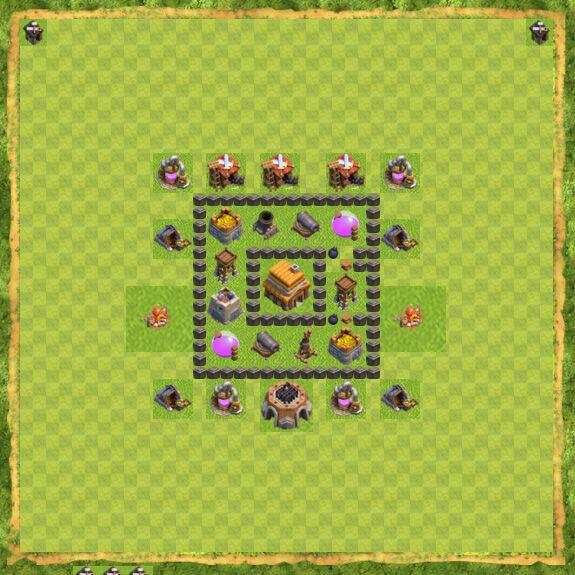 Base War Coc Th 4 8