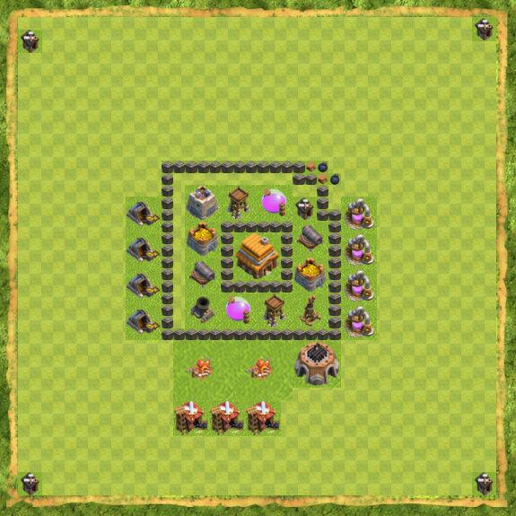 Base War Coc Th 4 9