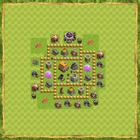 Base War Coc Th 5 10