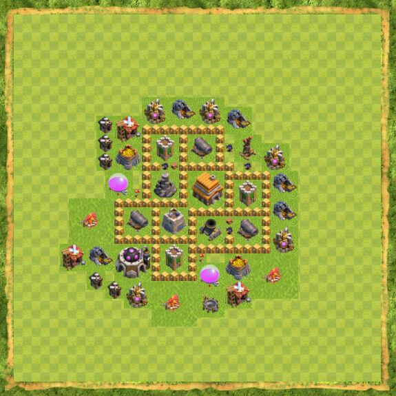Base War Coc Th 5 11