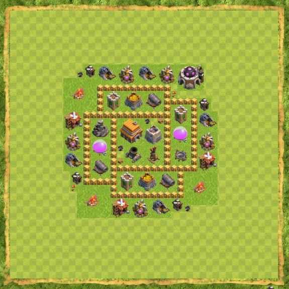 Base War Coc Th 5 12