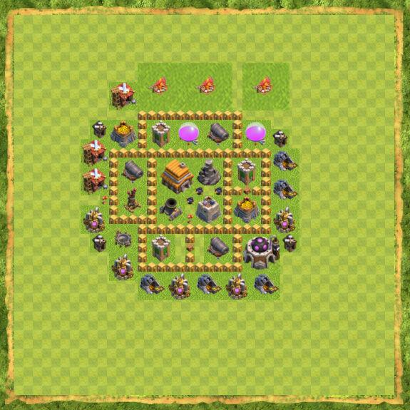 Base War Coc Th 5 13