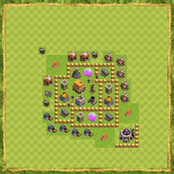Base War Coc Th 5 18