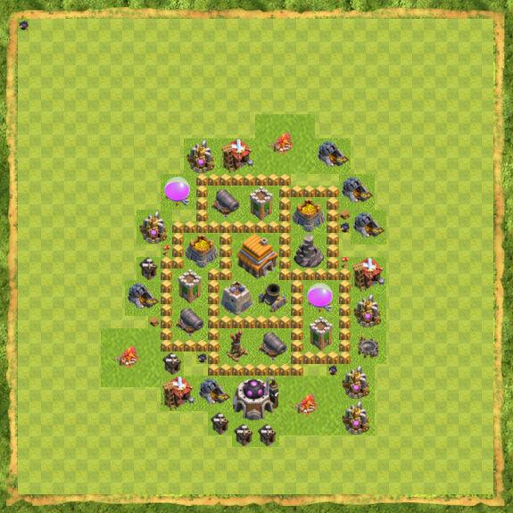 Base War Coc Th 5 19
