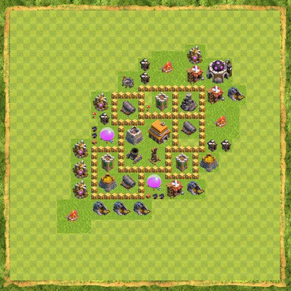 Base War Coc Th 5 22