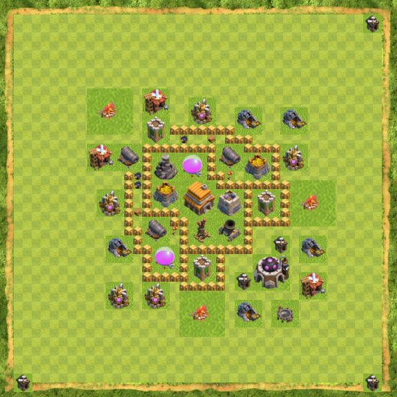 Base War Coc Th 5 23