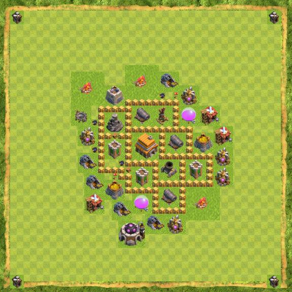 Base War Coc Th 5 3