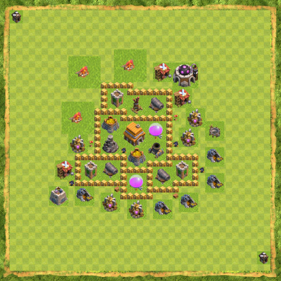 Base War Coc Th 5 30